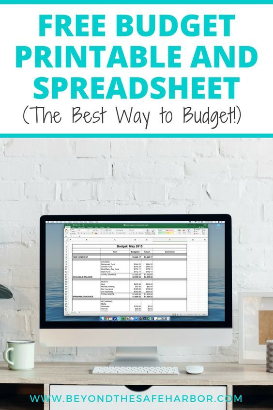 How to Budget Every Month (PLUS a Free Budget Printable!) Monthly - free spreadsheet software