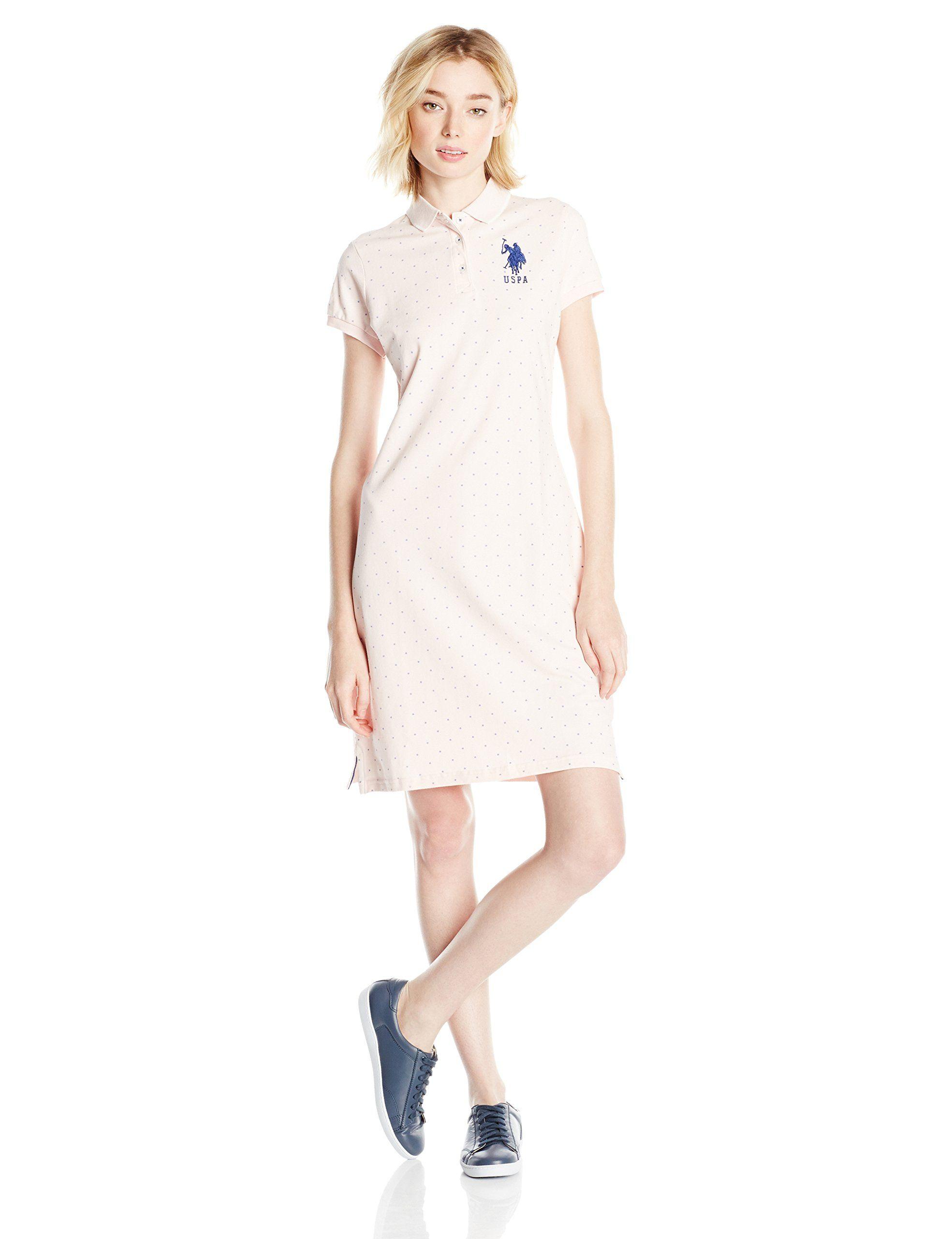 U S Polo Assn Juniors Polka Dot Pique Polo Dress Polo Dress Dresses Fashion