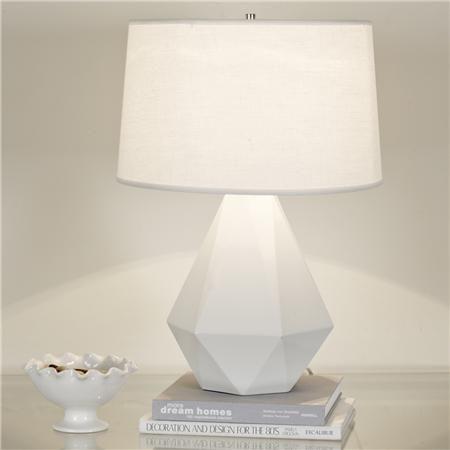 Sizzling Colors Geometric Ceramic Table Lamp Geometric Lamp Table Lamps For Bedroom White Table Lamp