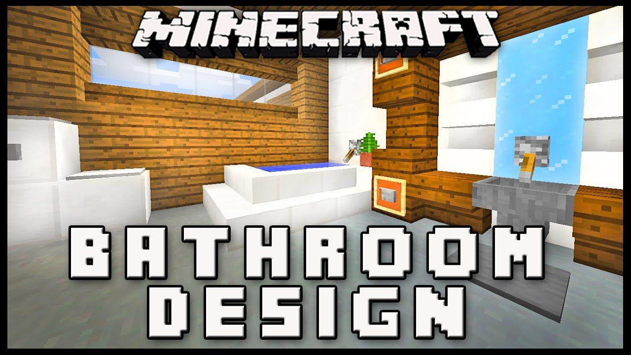 Minecraft How To Make A Modern Bathroom Design House Build Ep 17 Yellow And Gray Bathroom Decor Minecraft Modern Bathroom Design Minecraft House Designs