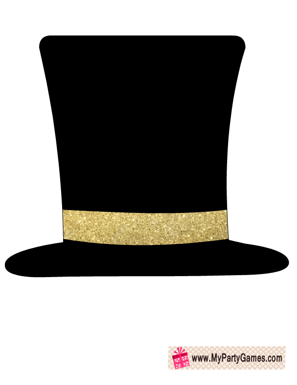 free printable hat prop for new year party