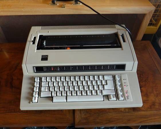 Vintage Working IBM Actionwriter 1 Typewriter + Original