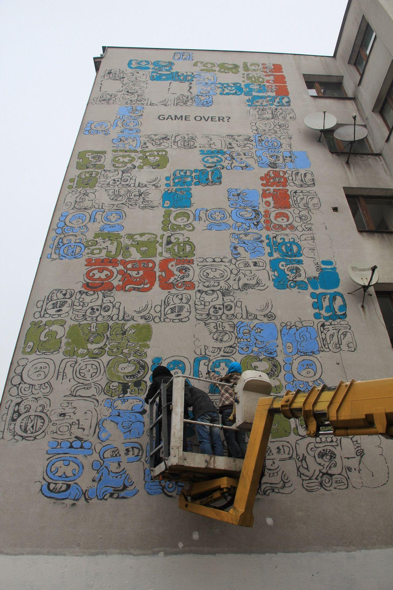 Mayamural /// Day 4- 9 dec 2012, Cracow, Poland - Part 1 #streetart #crakow #graffiti #poland