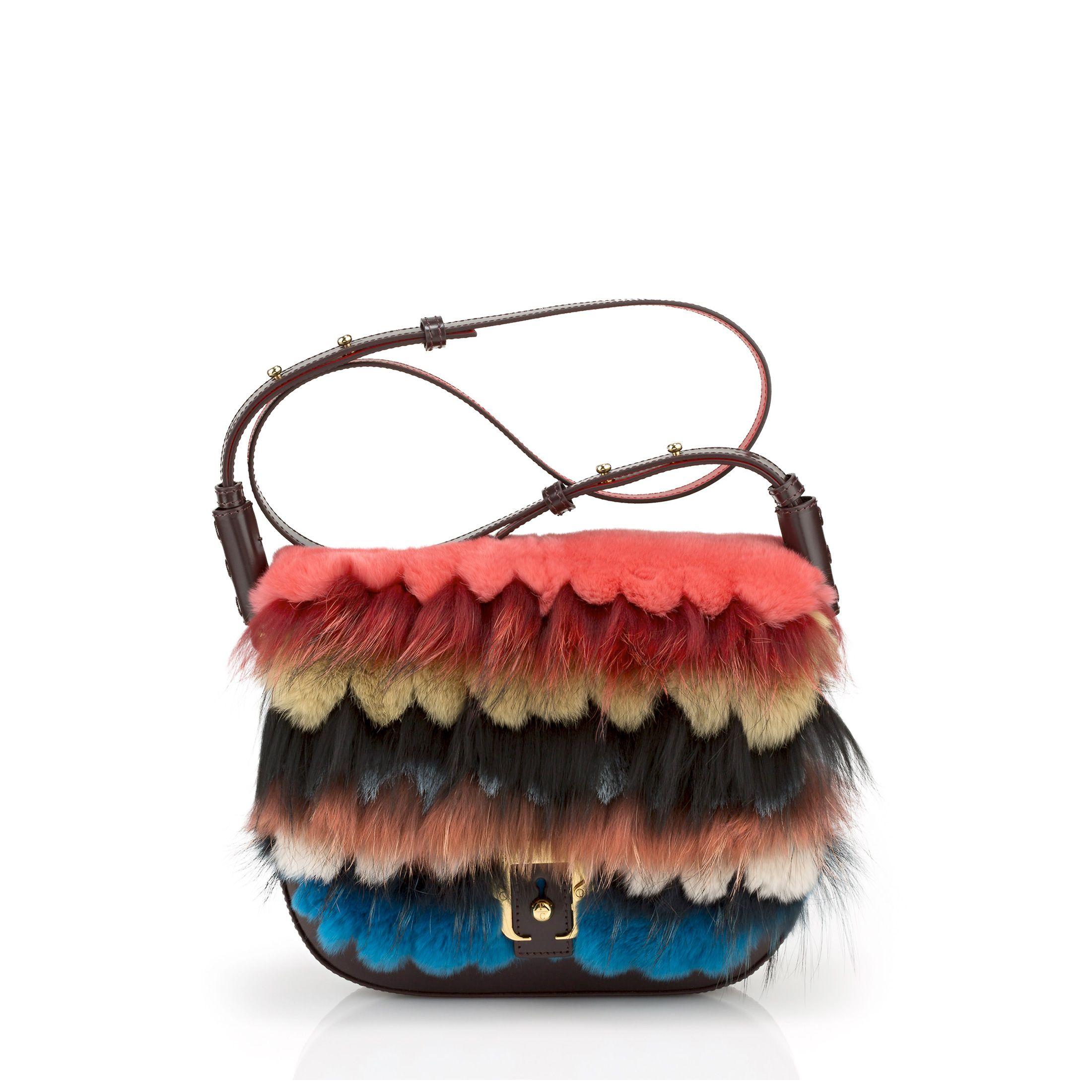 Paula Cademartori Red brown and blue Mae Boho handbag txdYXlbO