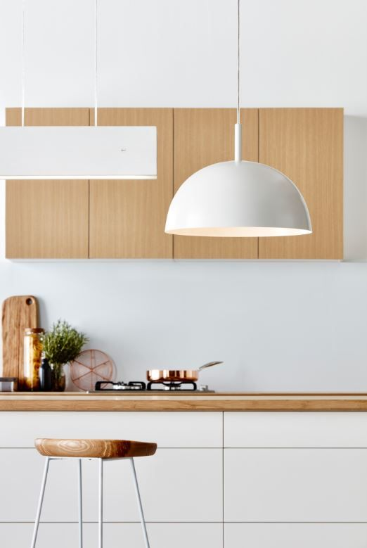 The Verve Metal Dome Light Pendant Features A White Exterior Coupled - Kitchen dome light
