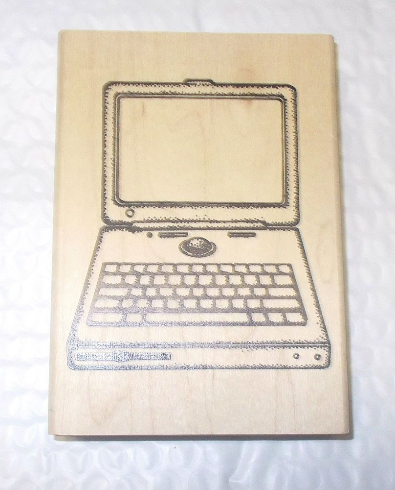 Museum Of Modern Rubber Laptop Computer rubber stamp Wood Mounted Techies  #MuseumOfModernRubber #LaptopComputerlaptops