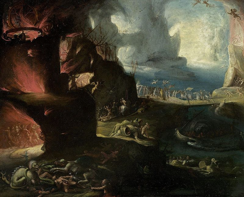 Circle of Jheronimus Bosch - Hell landscape
