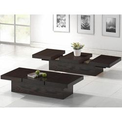 Cambridge Dark Brown Wood Modern Coffee Table Dark Wood Coffee