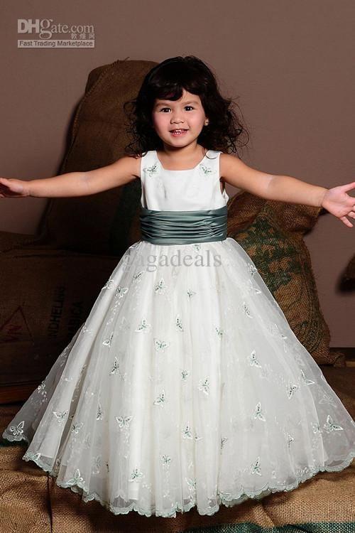 Whole Bridesmaid Dress Flower Dresses Gown Kids Junior Crew Neck 109 113 64 Dhgate
