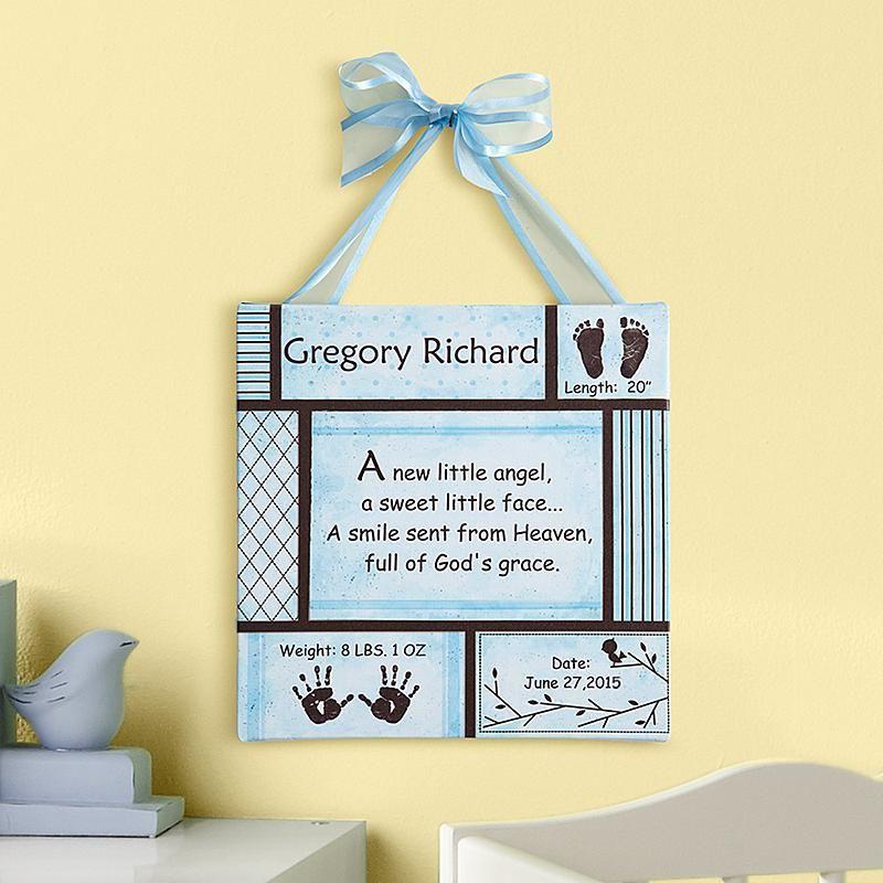 Baby Information Art Canvas | Birth weight, Nursery art and Babies