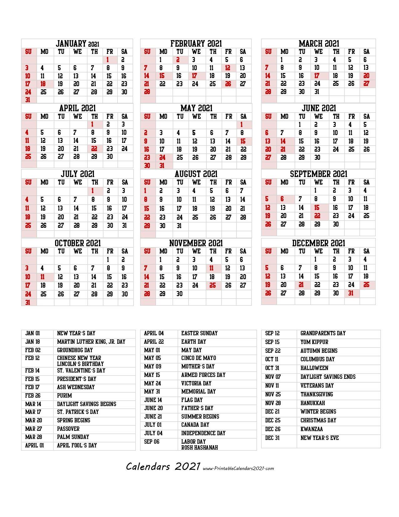 68 Design Printable 2021 Calendar One Page With Holidays Portrait Printable Calendar Calendar Printables Template Printable
