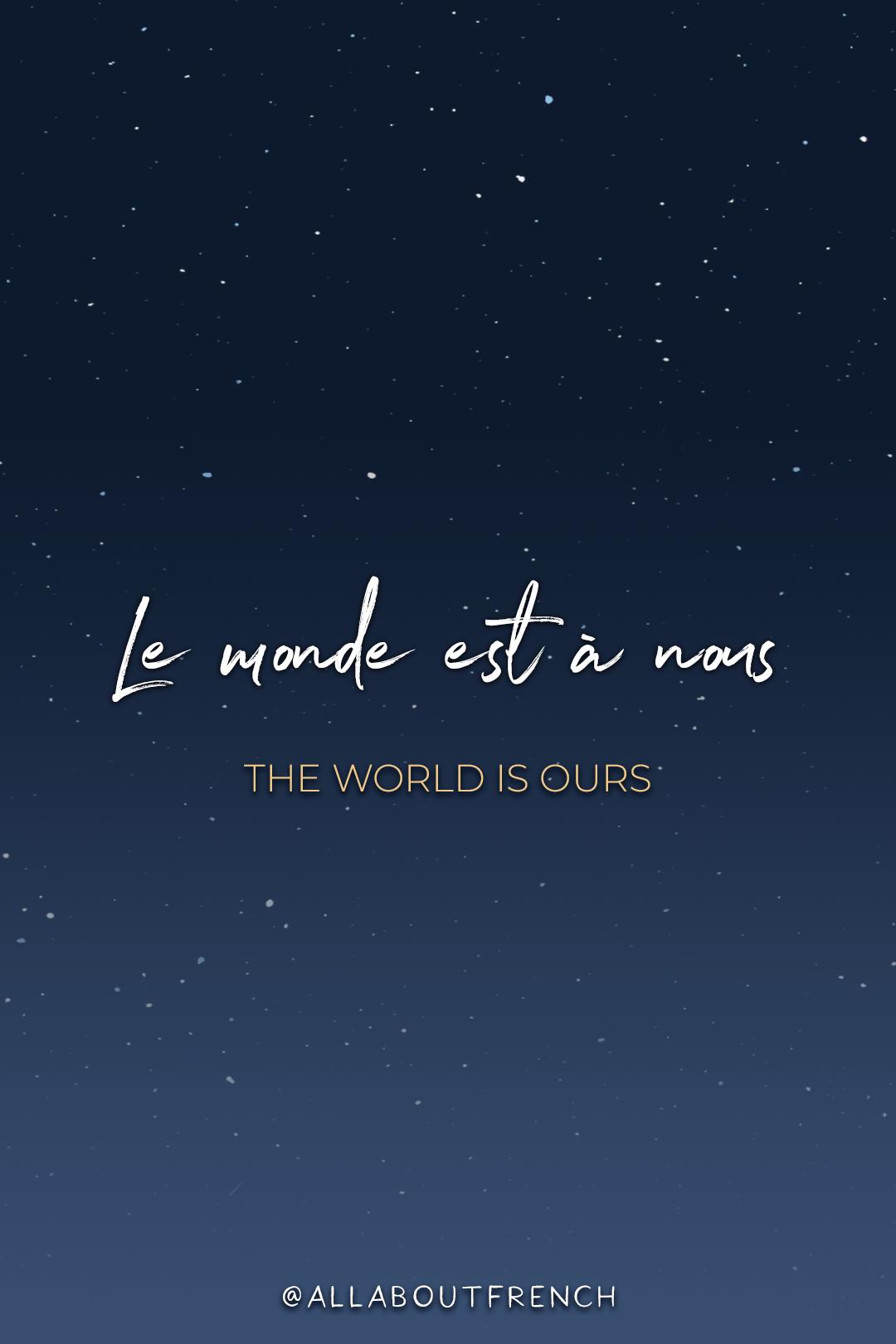 Le Monde Est A Nous : monde, Pretty
