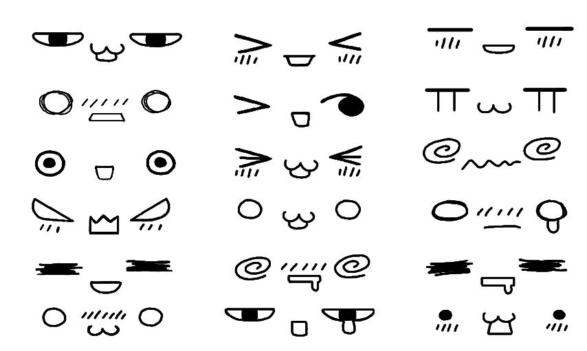 Kawaii Faces Cara Menggambar Ilustrasi Gambar