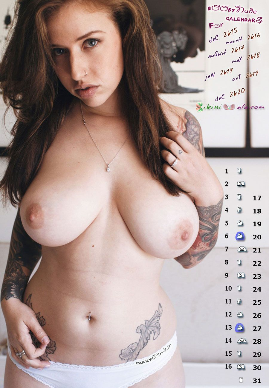big boobs sexy sash tattoo girl december 2015 calendars | calendars