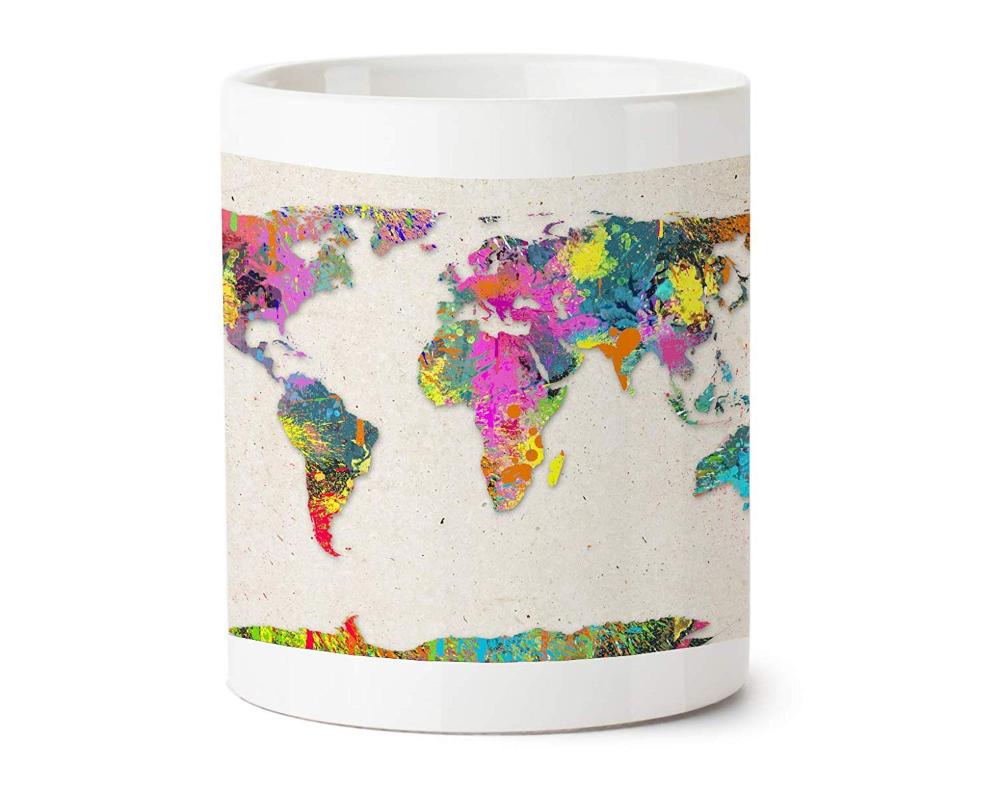 Buy Shark IND Colorful World MAP Ceramic Mug Online at Low