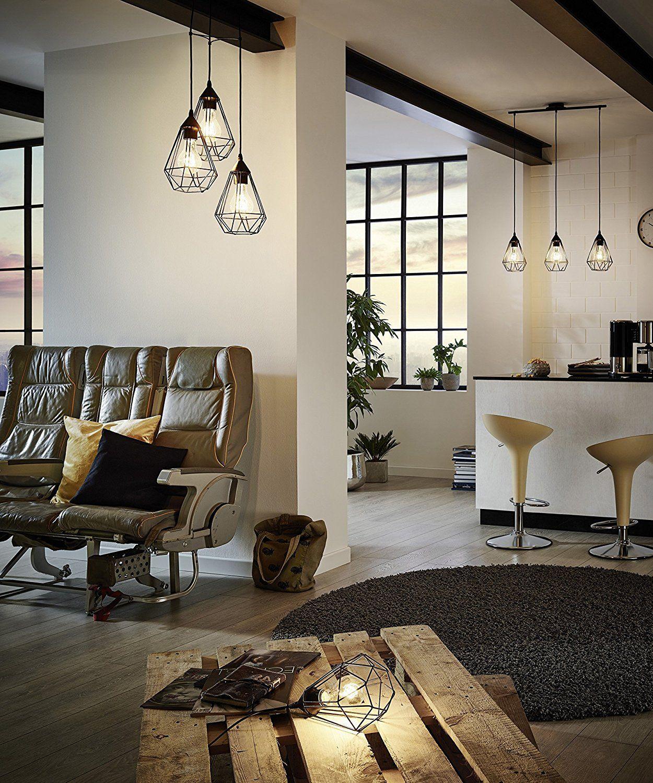 Eglo Lampe Suspension E27 L 790 Tarbes Noir Mat Amazon Fr Cuisine Maison Idee Deco Ikea Meuble Deco Mobilier De Salon