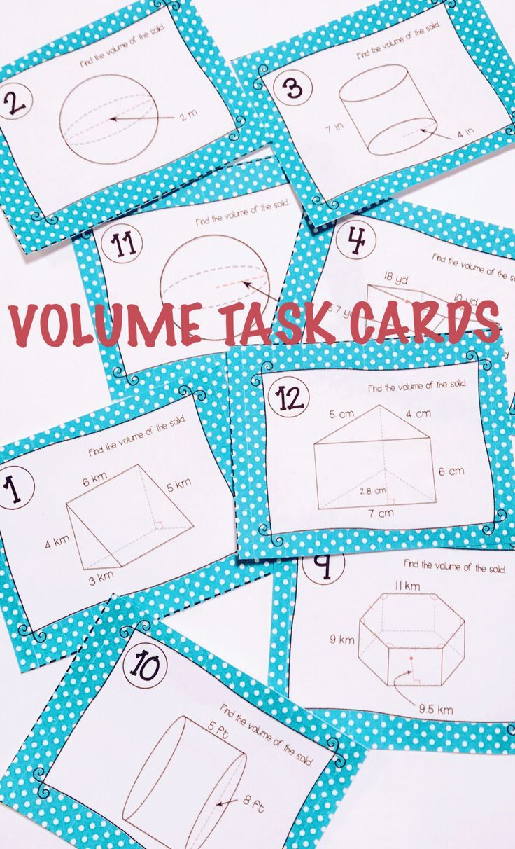 Volume Task Cards | Pinterest | High school, Maths and Maths resources
