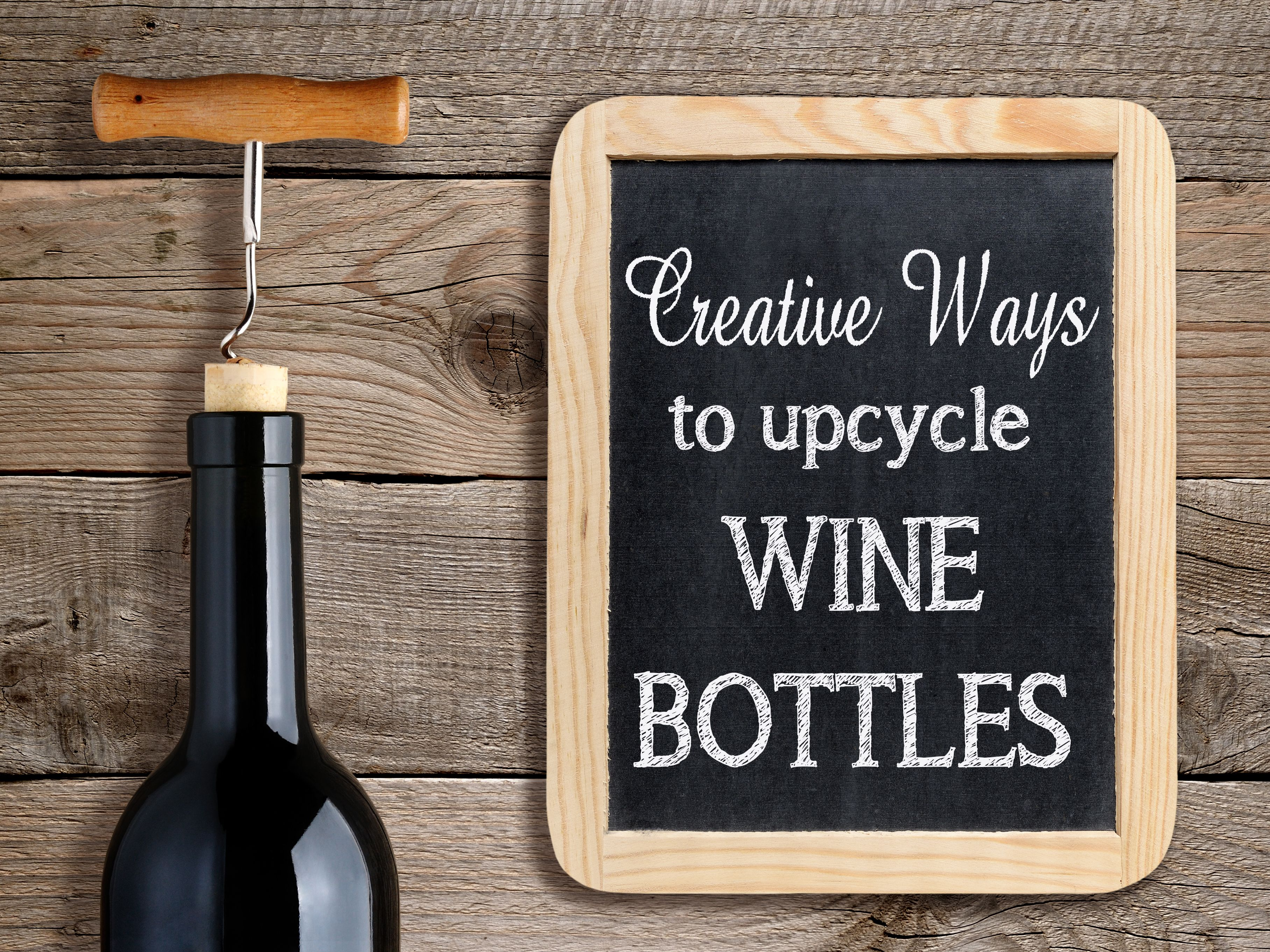 Creative Ways to Upcycle Recycle Wine Bottles Reuse Wine Bottle