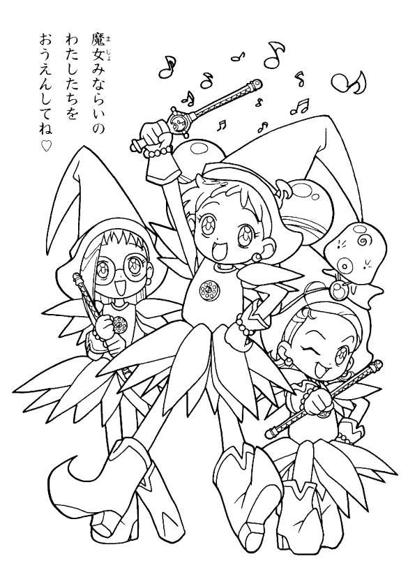 Coloring Page Magical Doremi Magical Doremi Magical Doremi - Magical-doremi-coloring-pages