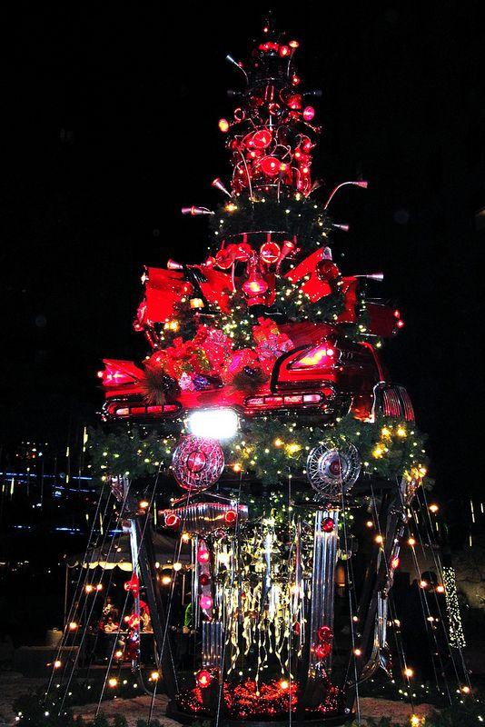 Auto Parts Christmas Tree Christmas Tree Christmas Holiday Lights