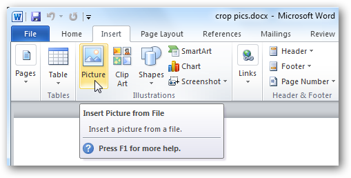 How To Crop Pictures In Word Excel And Powerpoint 2010 Crop Pictures Powerpoint 2010 How To Crop Pictures