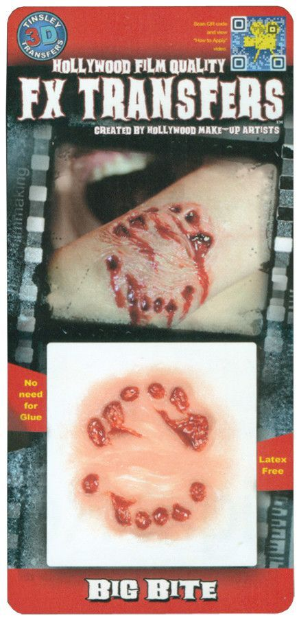 Squirm 3D FX Transfer Tinsley Temporary Halloween Special FX Make Up