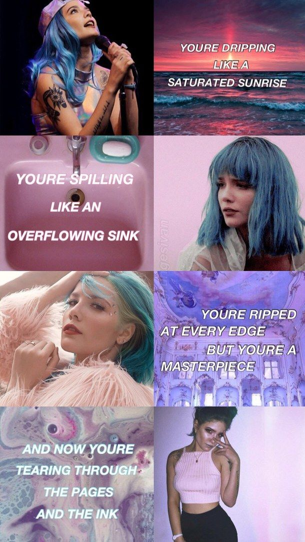 Lyric color purple lyrics : halsey colors tumblr - Google Search | Halseyyy | Pinterest ...