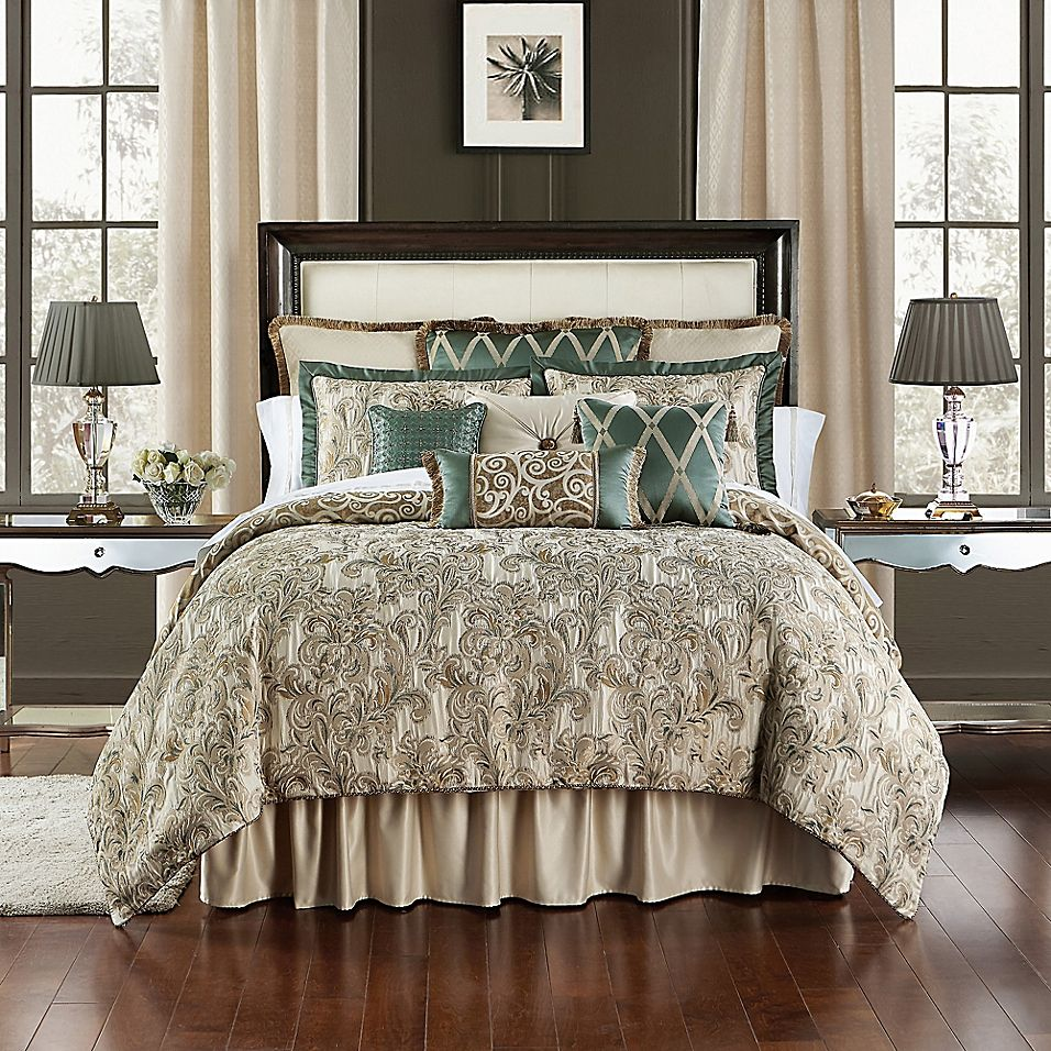 Waterford Anora Reversible Comforter Set Bed Bath Beyond In 2021 Comforter Sets King Comforter Sets Bedding Sets Master Bedroom