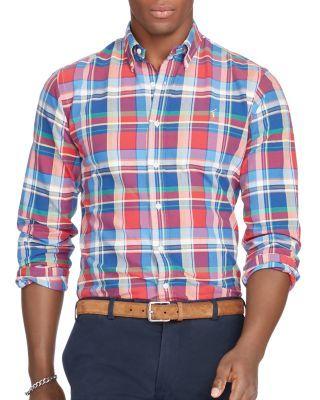 71b3ea50 POLO RALPH LAUREN Plaid Cotton Oxford Classic Fit Button Down Shirt. # poloralphlauren #cloth #shirt