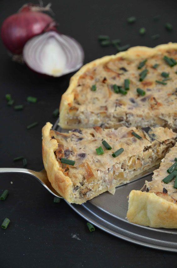 Zwiebelkuchen (vegan) #thanksgivingrecipes