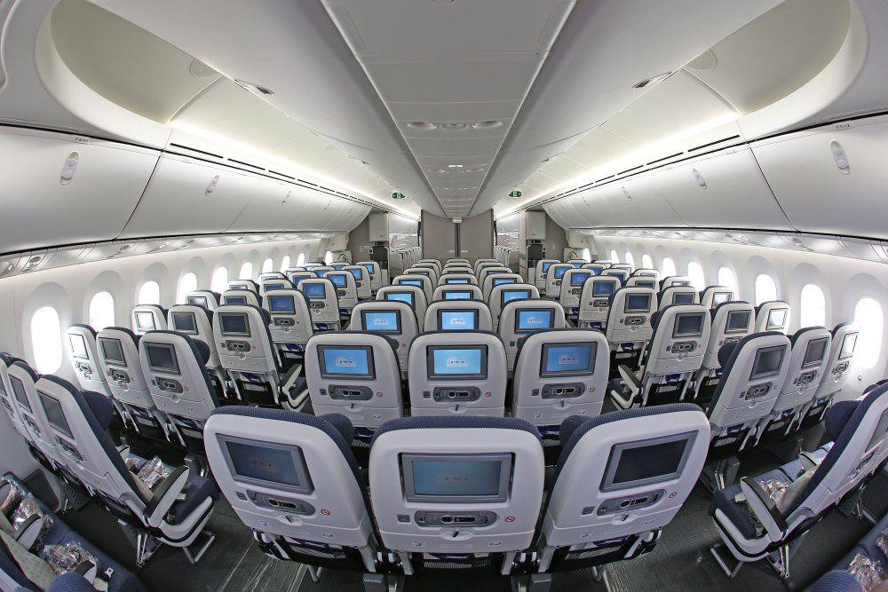 Interior of world traveller cabin british airways 787 for Interior 787 dreamliner
