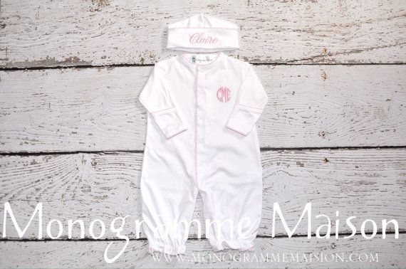 Coming Home Outfit Newborn Gown by MonogrammeMaison