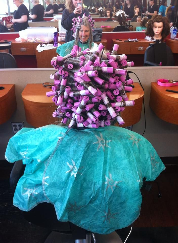 Triple Piggyback Perm Wrap Permed Hairstyles Perm Rods