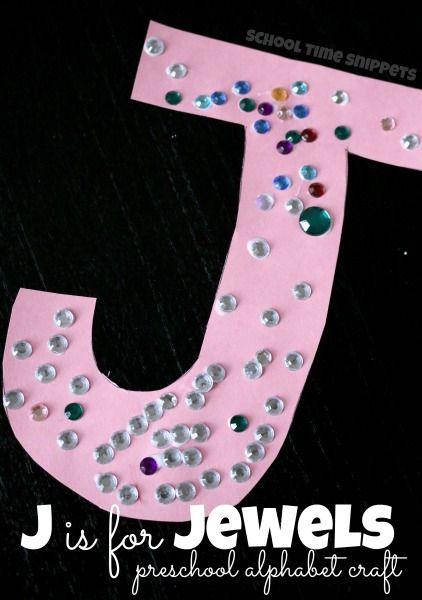 Letter J Jewels Craft Preschool letter crafts, Alphabet