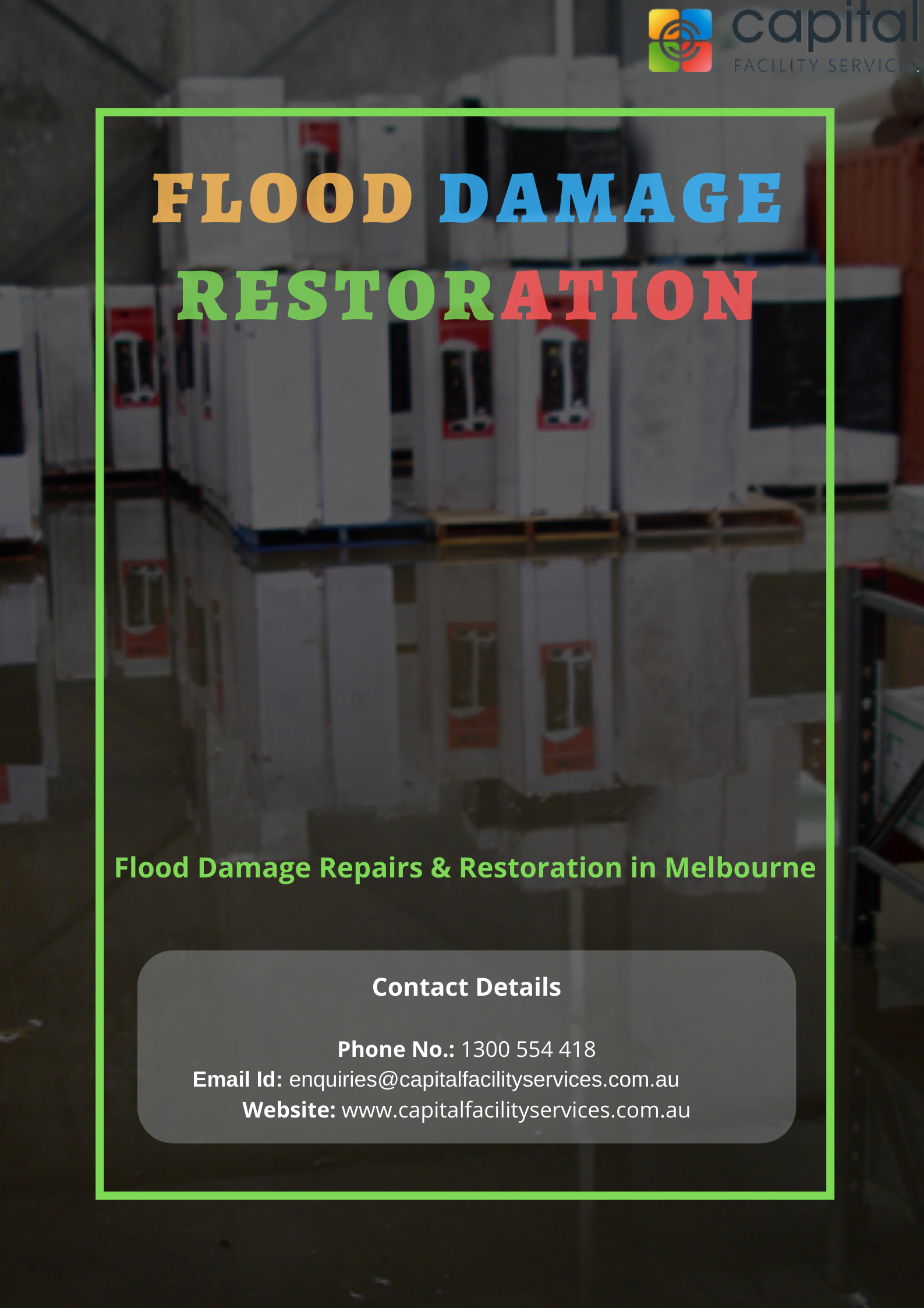 Melbourne Flood Damage Restoration Call Us 24 7 On 1300 554 418
