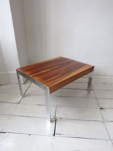 Lovely Merrow Associates Chrome Rosewood Glass Vintage Retro Coffee Style - Latest rosewood coffee table HD