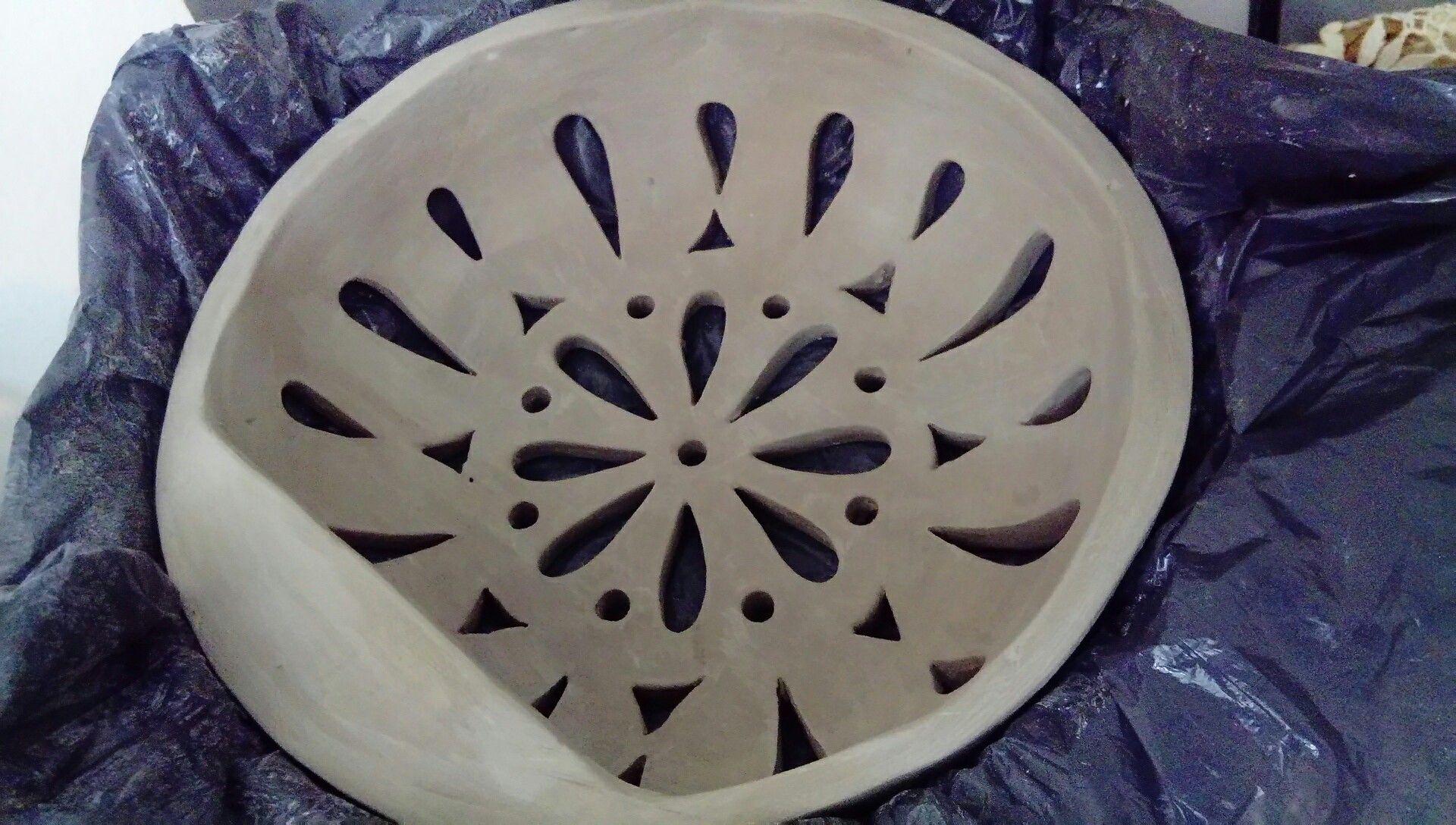 Aplique De Pared Calado Ceramica Artesanal Taller Ayllu Len Lamparas De Ceramica Lamparas De Pared