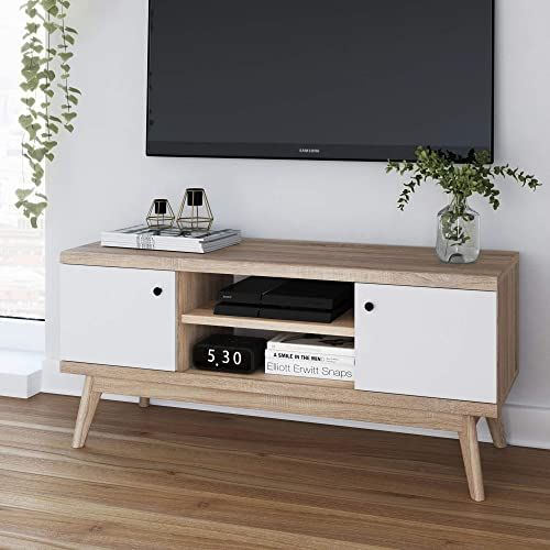 New Living Skog Mid Century Tv Stand Media Console Up To 50 ฟฝ ฟฝ Scandinavian Tv Stand Media Con In 2020 Scandinavian Tv Stand Living Room Tv Stand Bedroom Tv Stand
