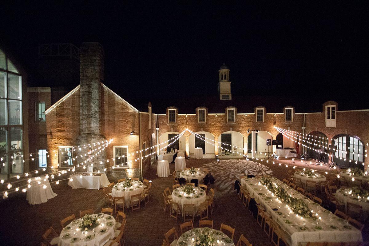 Cheekwood Botanical Garden Wedding Nashville Outdoor Reception Bistro Lights
