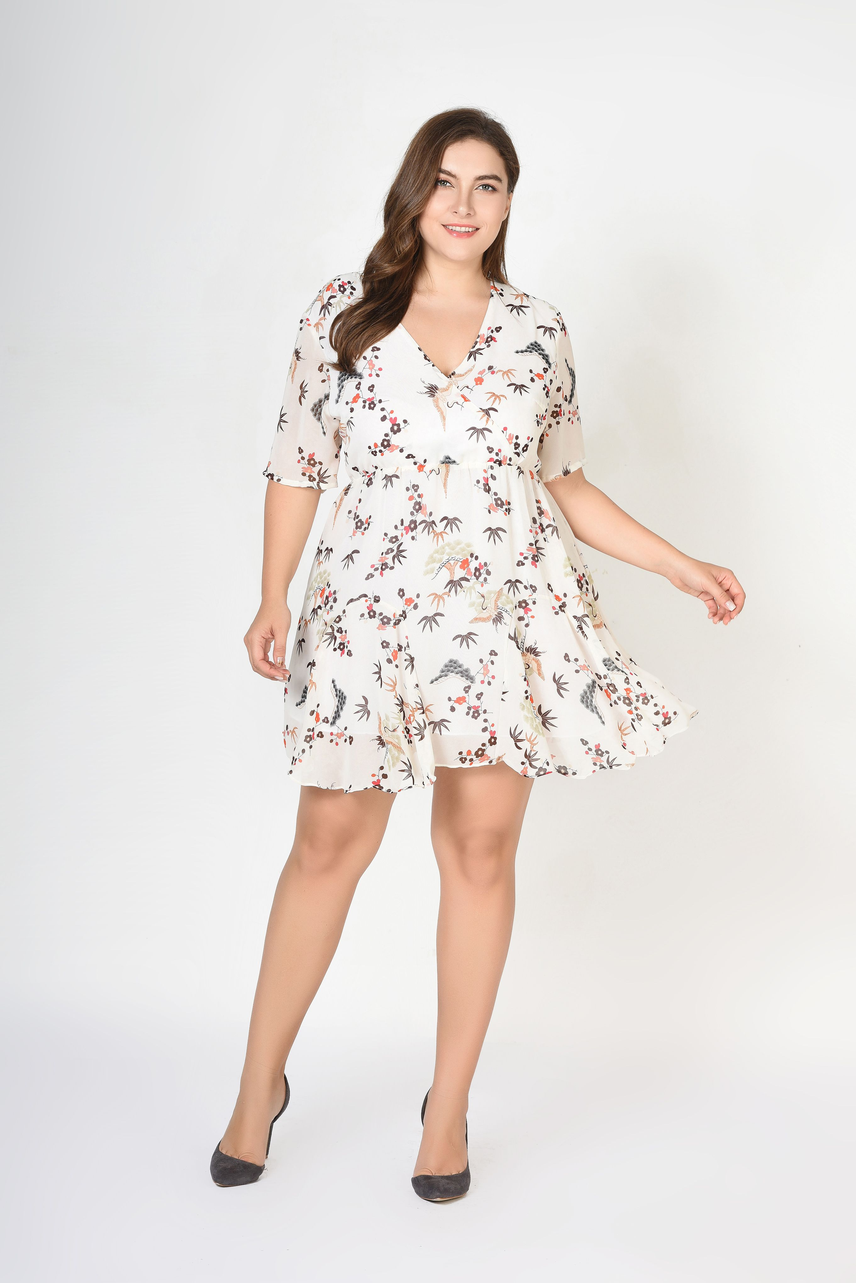 High Quality Plus Size 37xl Floral Dresses. 49 off. only