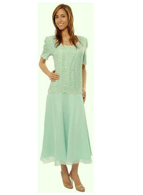 Green Mother of Groom Dresses