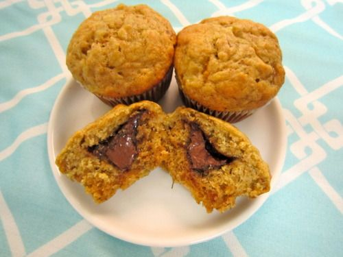 Nutella-Filled Banana Muffins