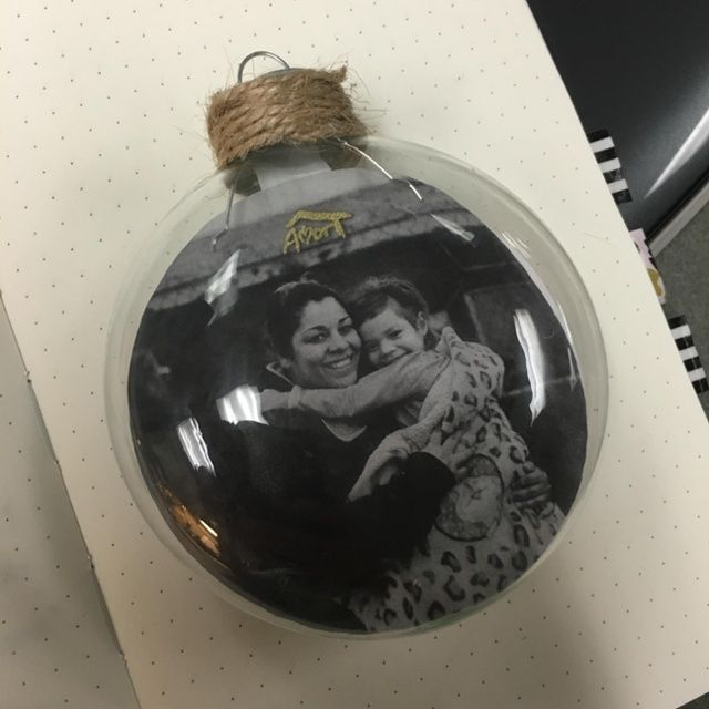 Christmas ornament that we will be selling at the Christmas Collective to support the work of Amor. This is the season for impactful giving