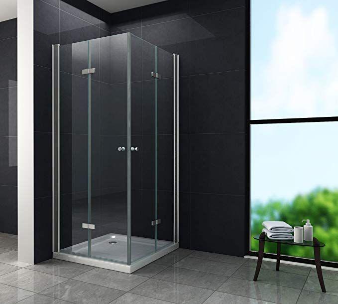 Falttur Duschkabine 8 Mm Duschabtrennung Eckeinstieg Dusche Echt