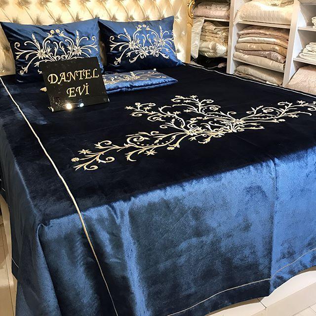 Müşterimizin istegi üzerine çalıştığımız lercivert renk yatak örtümüz☎️Fiyat sipariş ve tüm sorularını için lütfen