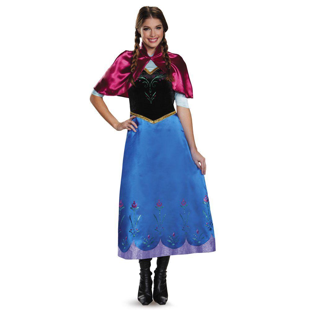 Frozen Womens' Traveling Anna Deluxe Adult Costume - Walmart.com - Walmart.com