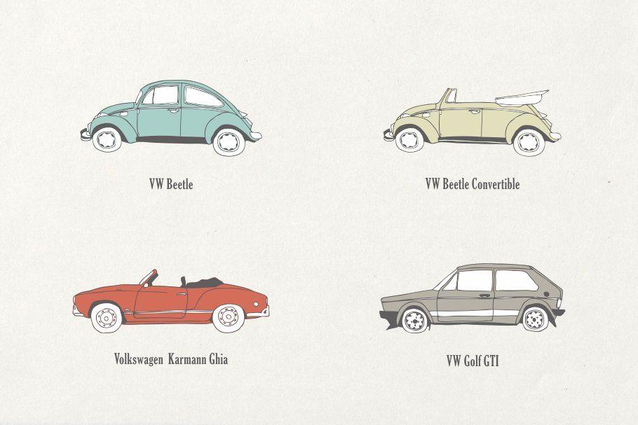 Ad: 30 Vintage Cars Bundle by Storyteller Imagery on Creative Market. 30 Vintage…