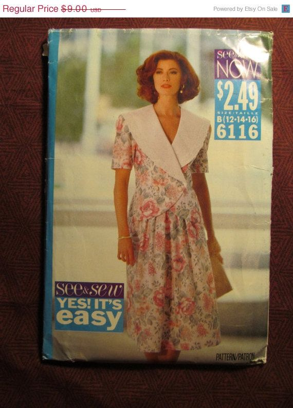 SALE Uncut 1992 Butterick See & Sew Sewing Pattern by EarthToMarrs, $6.30