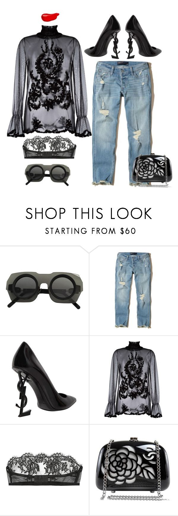 """""""IT!"""" by maria-laura-correa-da-silva ❤ liked on Polyvore featuring Kuboraum, Hollister Co., Yves Saint Laurent, Blugirl, I.D. SARRIERI, Chanel and Burberry"""