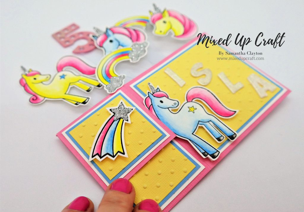 unicorn pop up box card  pop up box cards unicorn card